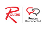 Routes Reconnected 2020. Логотип выставки
