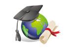 Образование в России. Образование за рубежом 2015. Логотип выставки