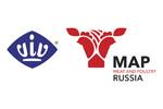 Мясная промышленность. Куриный Король. Индустрия Холода для АПК / MAP Russia & VIV 2020. Логотип выставки