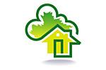 Загородный дом. Деревянное домостроение. Цветы. Ландшафтный дизайн 2019. Логотип выставки
