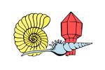 Mineralien Fossilien Schmuck 2019. Логотип выставки